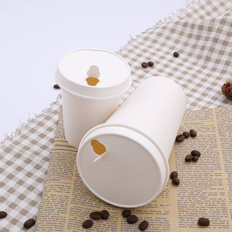 Compostable paper hot cups and lids