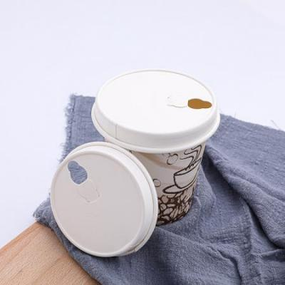 Compostable disposable paper coffee cup lid