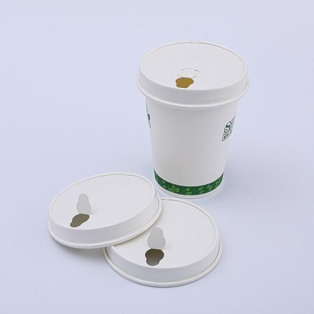 Biodegradable  bagasse paper cups with lids