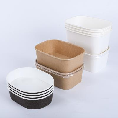 Retangular paper bowl with lid wholesale
