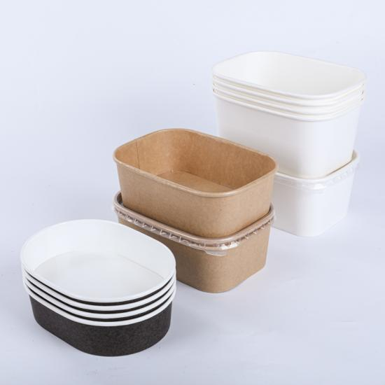 Biodegradable paper bowls for hot food