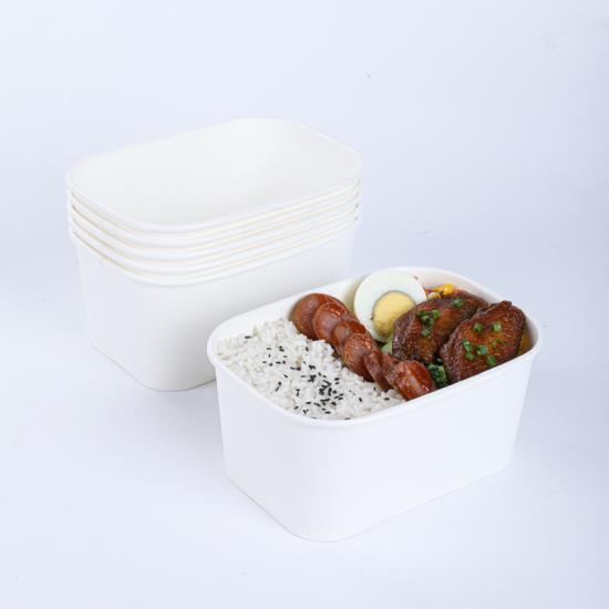Compostable biodegradable disposable paper food container