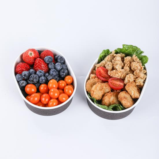 Disposable pulp paper snack bowls