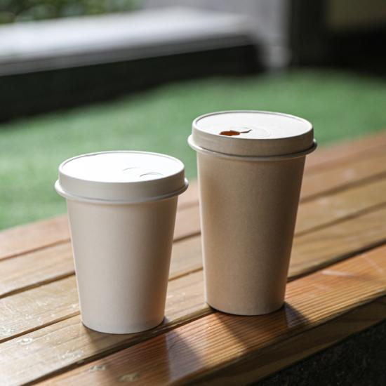 Biodegradable disposable paper coffee cup lid
