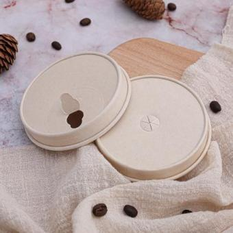 Custom printed biodegradable disposable paper lids