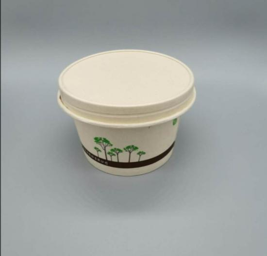 Supply compostable disposable kraft paper lid