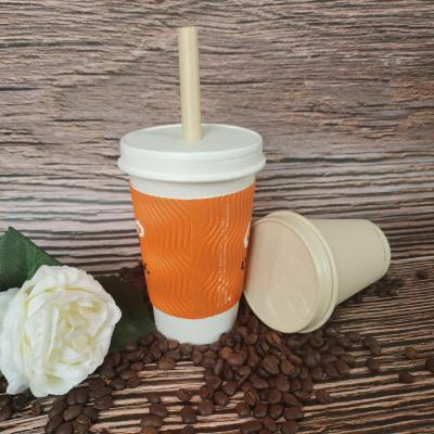 Hot coffee paper cups with lids